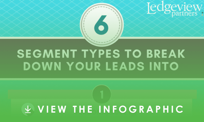 6 Segment Types to Break Your Leads into Infographic