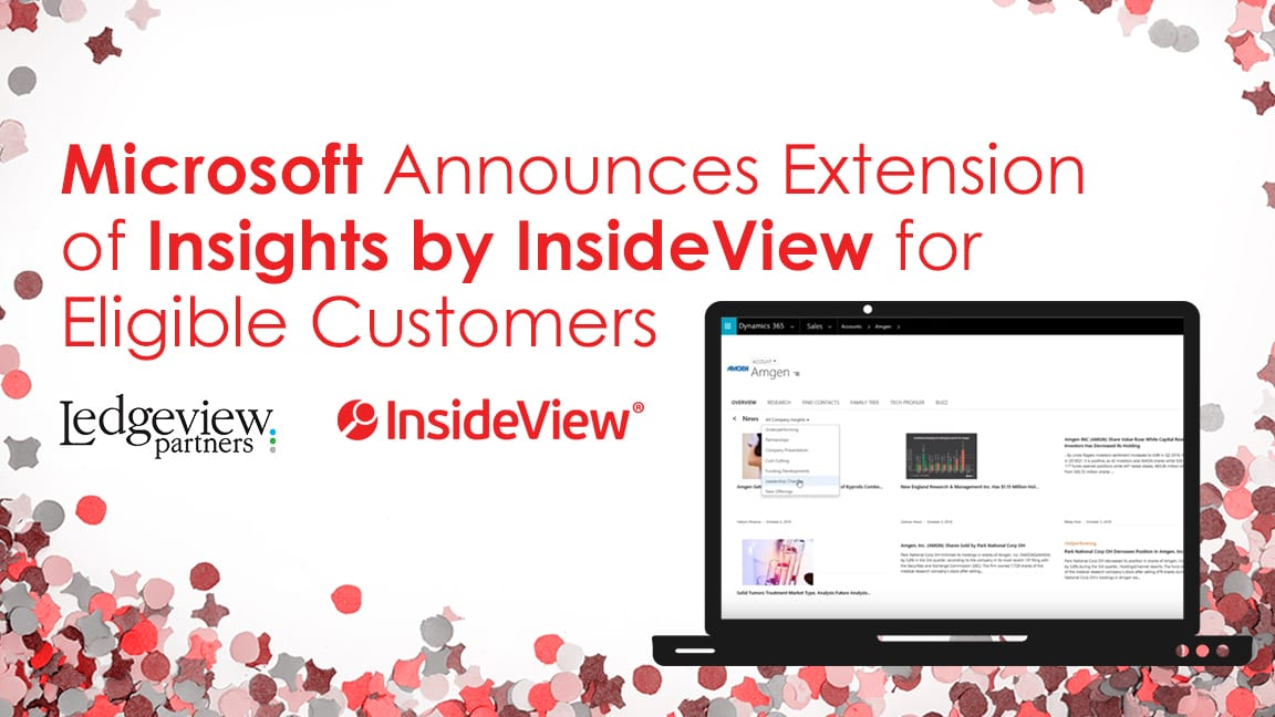 Microsoft Announces Extension of Insights by InsideView for