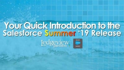 Salesforce Summer '19 Release Notes