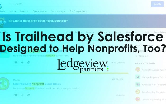 Salesforce Trailhead Nonprofit Help