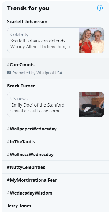 Twitter Trending Screenshot