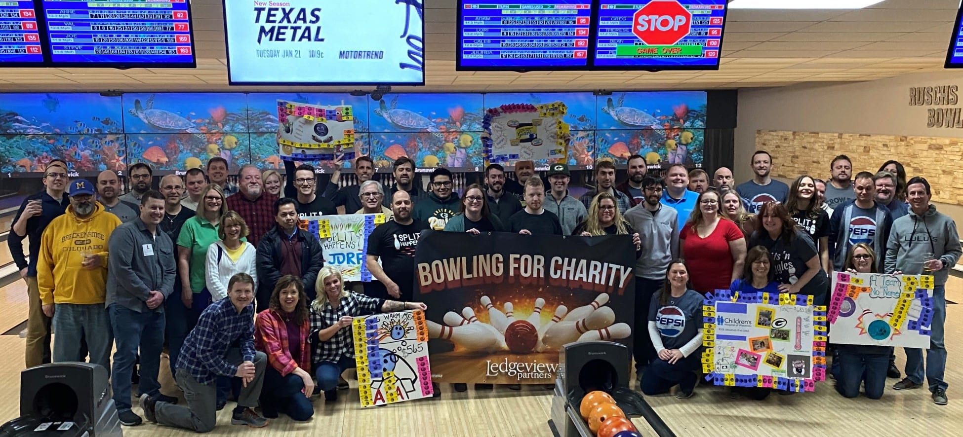 Bowling for Charity Team Picture