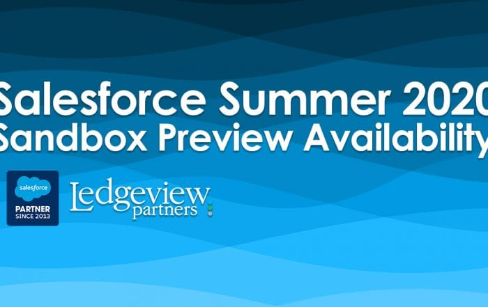 Salesforce Summer 2020 Sandbox Preview Availability
