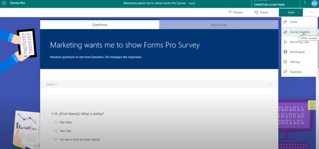 How to Personalize a Survey in Forms Pro Utilizing Dynamic Features