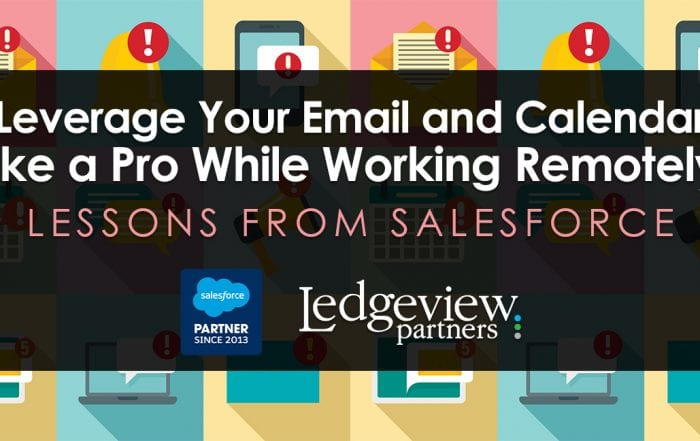 Lessons from Salesforce Trailhead - leverage your email and calendar like a pro while working remotely