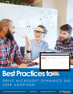 Best Practices to Drive D365 UA eBook Cover 1