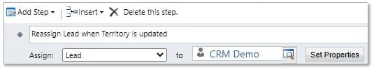 How to Set up the Dynamics 365 Reassign Update Based on Event in CRM Workflow