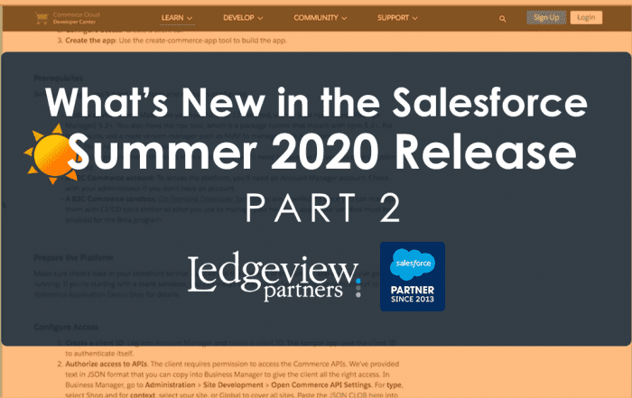 Salesforce Summer 2020 Release