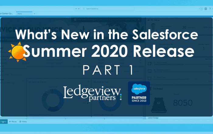 Salesforce Summer 2020