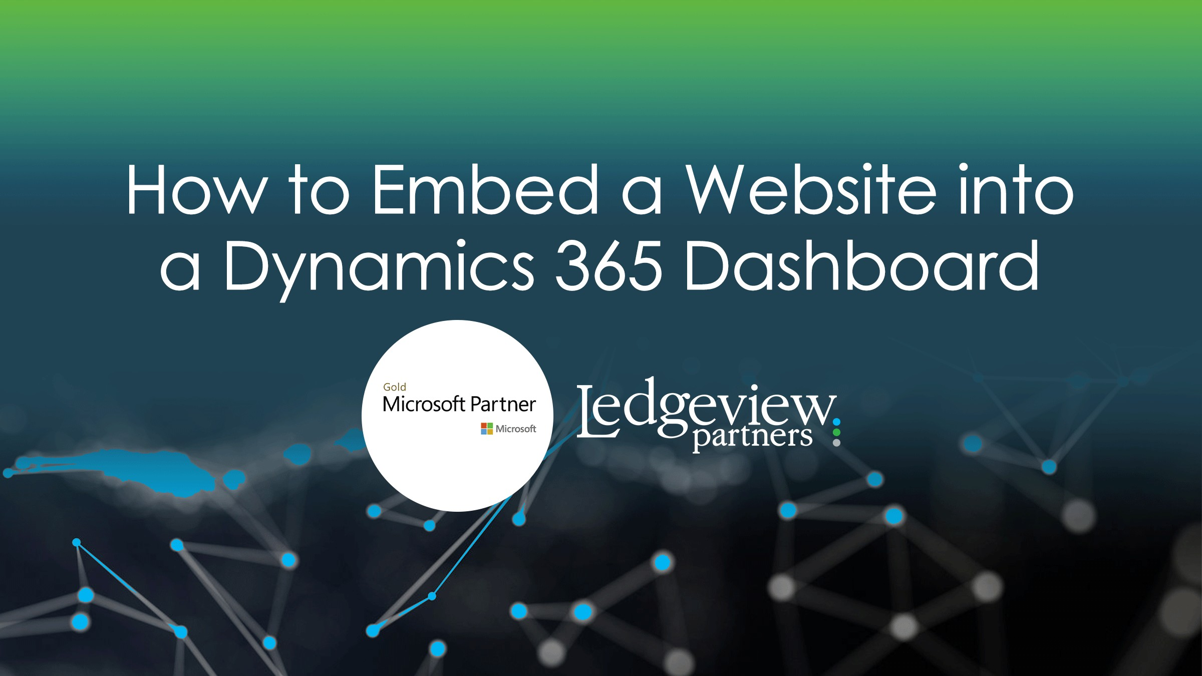 How to Embed a Website into a Microsoft Dynamics 365 Dashboard