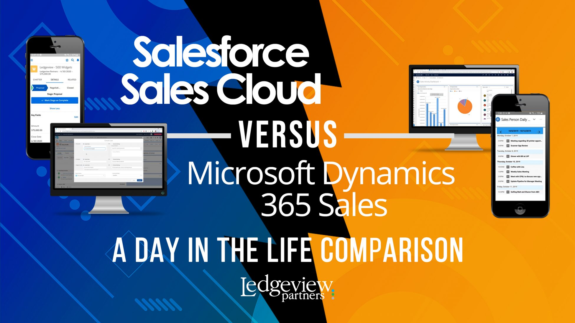 Salesforce Sales Cloud vs. Microsoft Dynamics 365 Sales: A Day in the Life Comparison